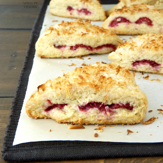 Coconut-Raspberry Scones
