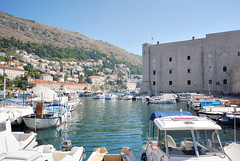 Dubrovnik. The City Harbour and St. Johns Fort