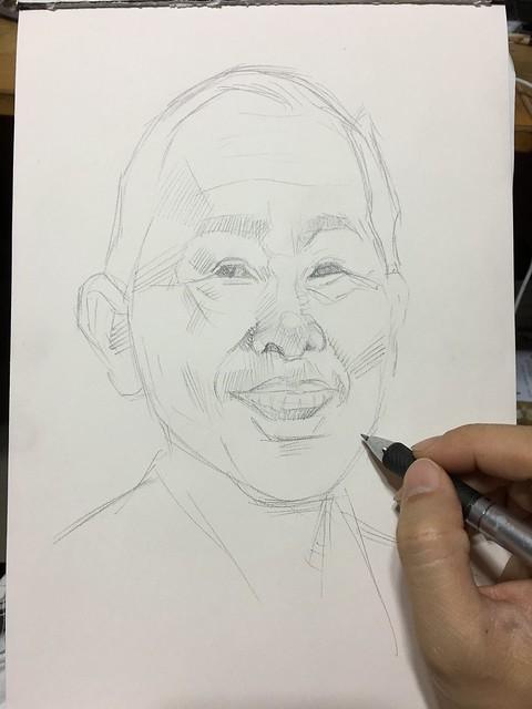 Portrait in pencil.....