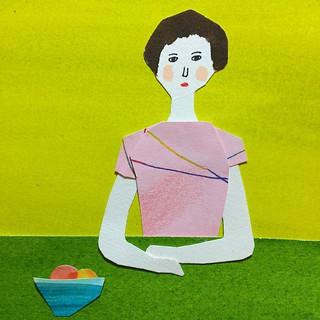 #illustration #sketch #drawing  #人物 #people #satoshigemi  #girl #水彩絵ノ具 #painting