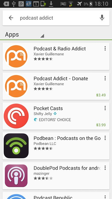 1 google play store pocast and radio addict