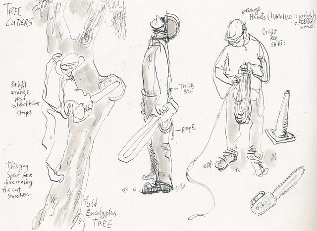 Sketchbook #94: Tree Cutters