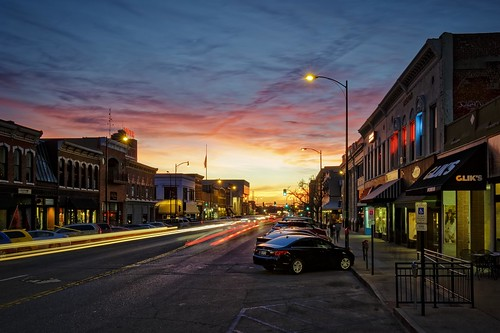 Notley Hawkins Photography, Downtown Columbia Missouri, Broadway Columbia Missouri, architecture, sunset, sky