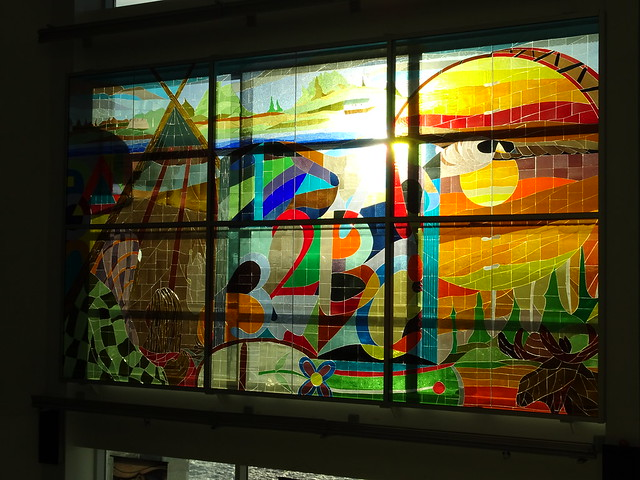 Stained Glass in the School in Waswanipi