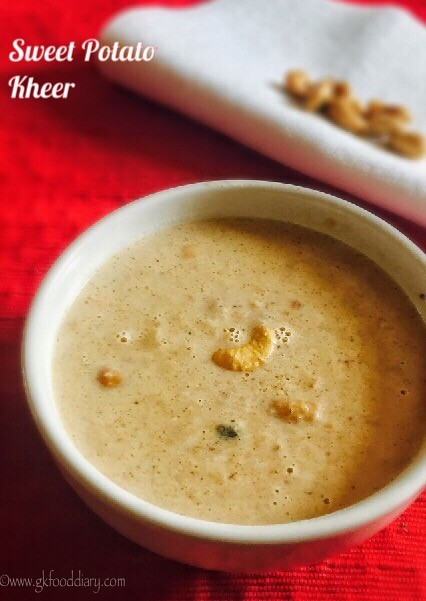 Sweet Potato Kheer Recipe for Babies, toddlers and Kids 3