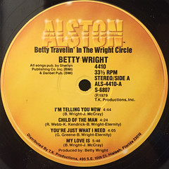 BETTY WRIGHT:TRAVELIN' IN THE CIRCLE(LABEL SIDE-A)