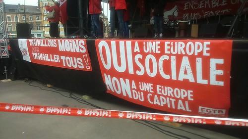 Liège. Rassemblement syndical du 19 avril.