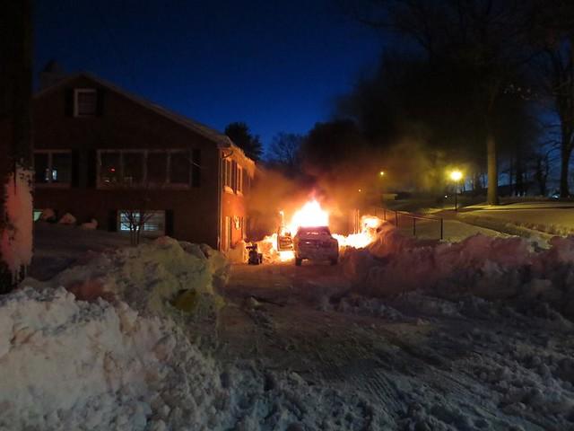 Vehicle Fire at Springbrooke Nursing Home