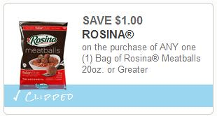 Rosina Meatballs Coupon