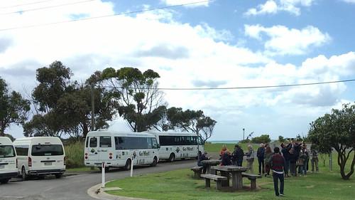 Touri-Busse mit der passenden Ladung Kameraträger