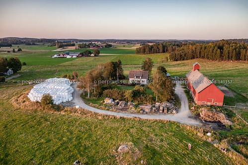 sverige swe färgelanda västragötaland flygfoto norrabandene