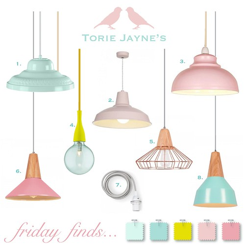 Friday Finds...Pretty Pendant Lights