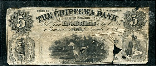 Counterfeit note of the Chippewa Bank, Wisconsin