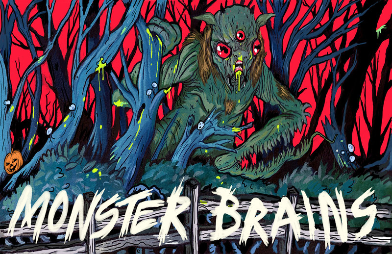 MONSTER BRAINS LOGO - Trevor Henderson