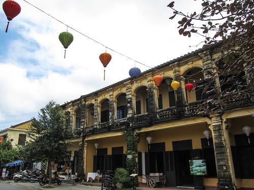 Hoi An: la quartier colonial français et ses arcades