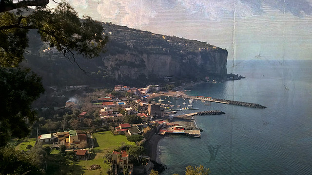 view of the marina in Vico Equense