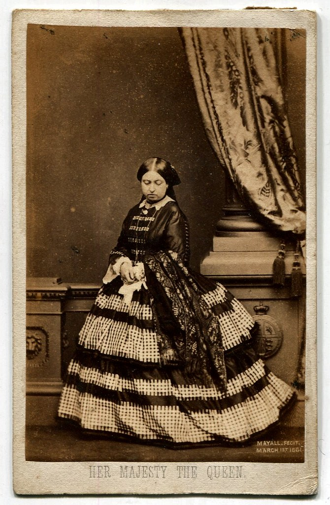 Queen Victoria 1861 Carte De Visite Photograph