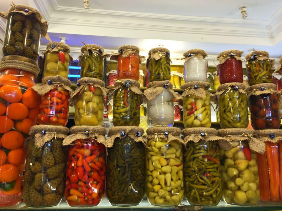 A sampling of pickled vegetables