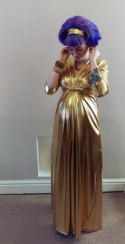 Gold Maternity Dress