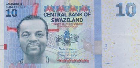 10 Emalageni Swazijsko 2014, P36b UNC