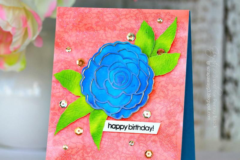 Happy birthday flower closeup