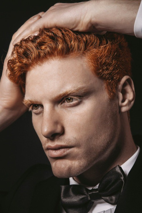 Handsome redheaded male model