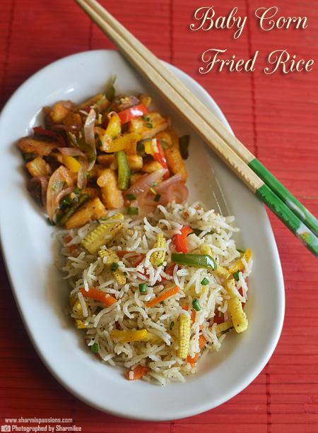 Baby Corn Fried Rice