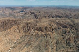 Luftaufnahme Flug zum Namib Naukluft NP