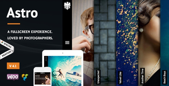 Astro v4.6 - Showcase/Photography Wordpress Theme