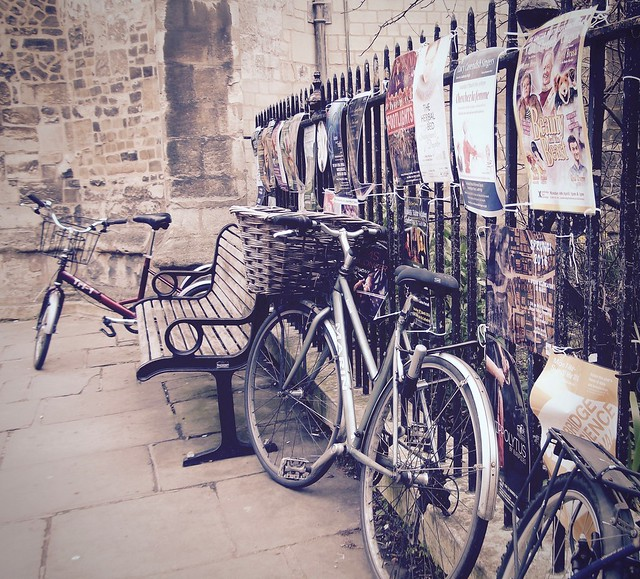 Bench, fence and bikes, Fujifilm FinePix JV100