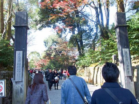 金閣寺入り口画像