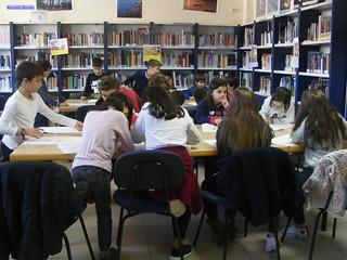 Visita CEIP Laredo, 3º e 4º de Primaria, á Biblioteca de Chapela