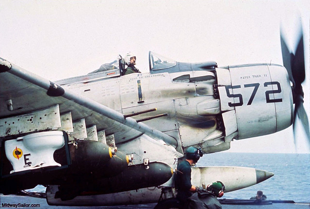 A-1H 'Paper Tiger II' carrying the toilet bomb in October 1965