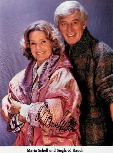 Maria Schell and Siegfried Rauch in Die glückliche Familie (1987-1991)