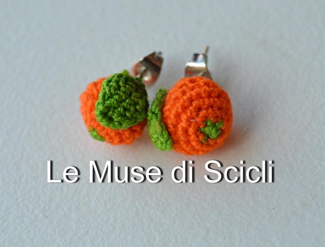 Orecchini a mandarino -  Viva la Sicilia