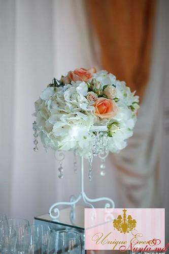 Unique Events: декорации для свадьбы > Фото из галереи `Праздник в голубых и персиковых тонах`