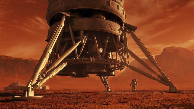 Mars Ascent Vehicle art by steve_burg_01