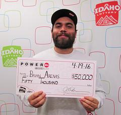 Brian Arenas - $50,000 Powerball!