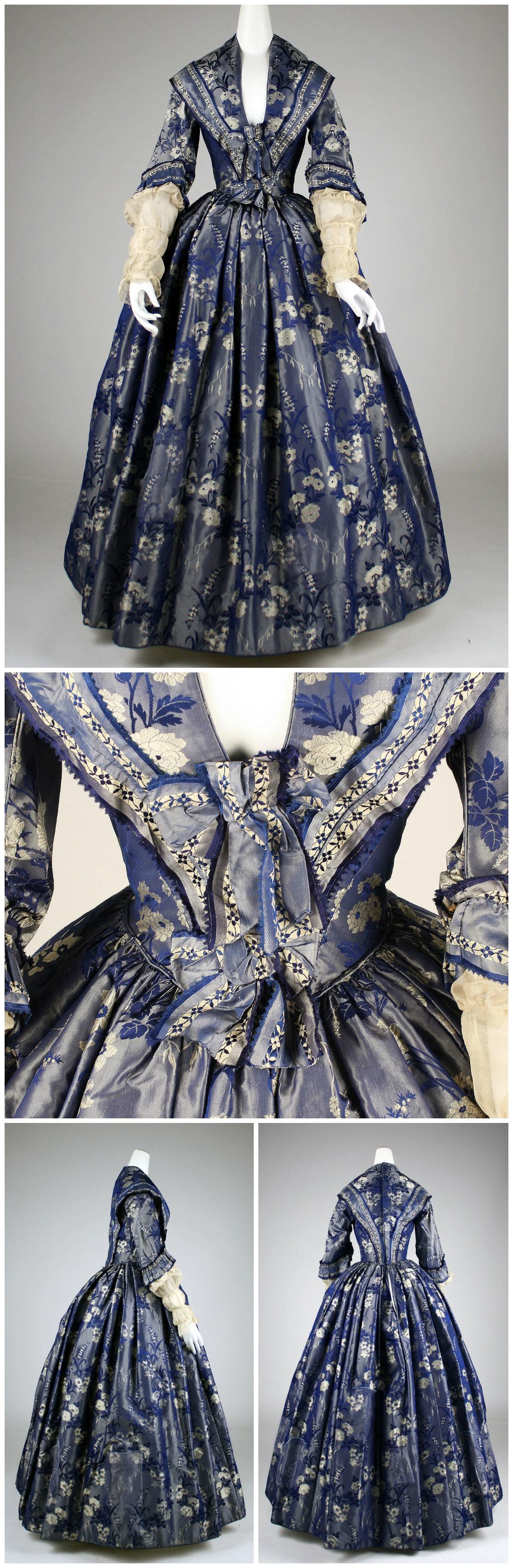 1842. British. Silk. metmuseum.org