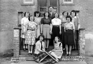 Girl's softball team, Smoky Lake High School, Smoky Lake, Alberta