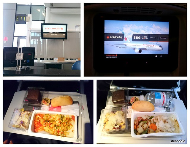Flying to Paris, France and the in-flight meals