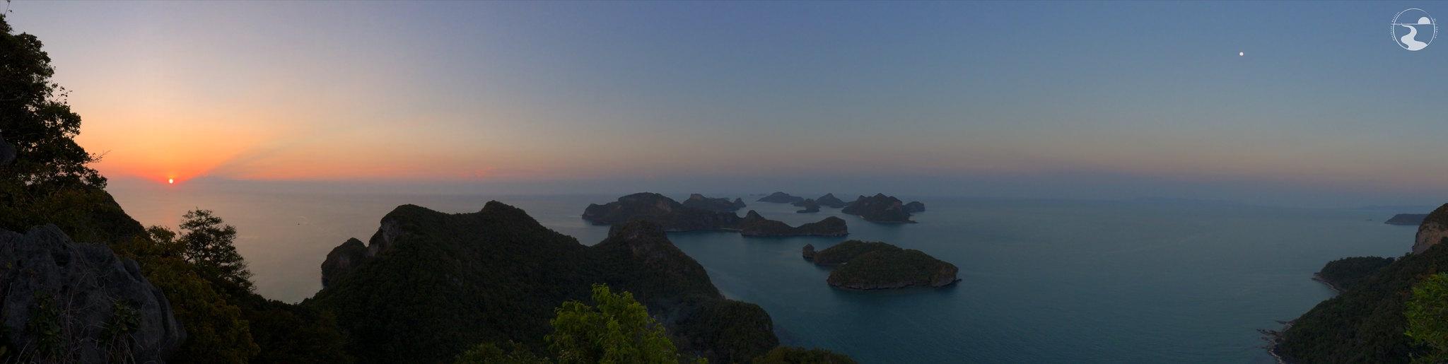 Panoramica Ang Thong al atardecer