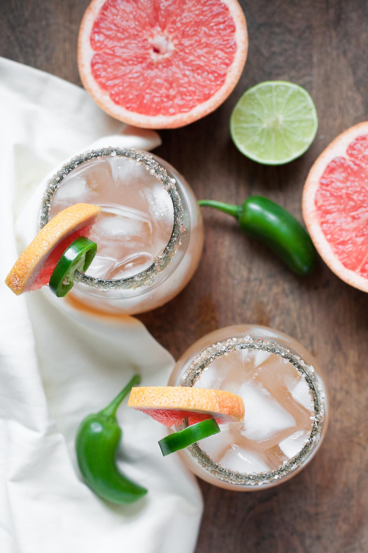 Grapefruit Jalapeño Margaritas