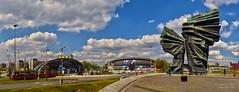 Katowice - Silesian Insurgents Monument & Spodek Hall