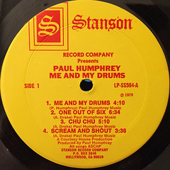 PAUL HUMPHREY:ME AND MY DRUMS(LABEL SIDE-A)