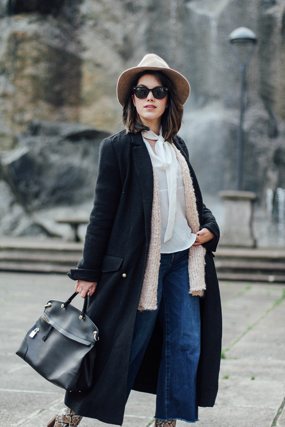 black long coat trafaluc myblueberrynightsblog