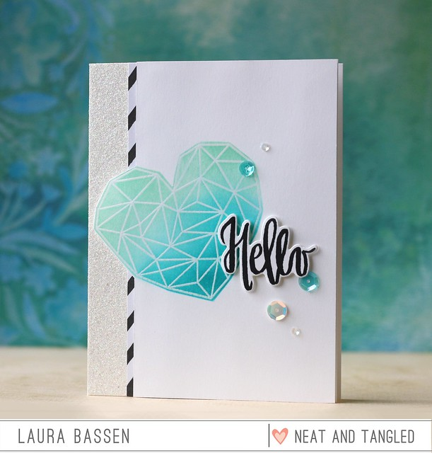 Neat & Tangled-Painted Hello