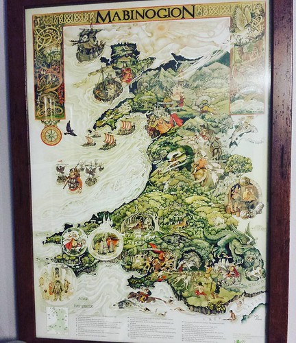 Mabinogion poster. This was a Christmas gift from my sister. Hung it today! #mabinogion #poster #art #mythology