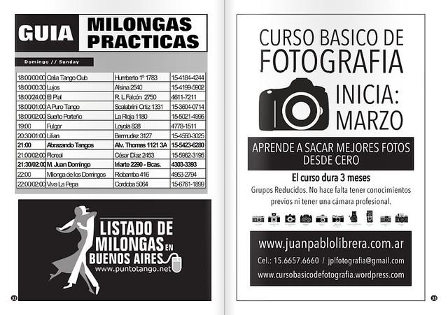Revista Punto Tango Enero 2016 - Listado de Milongas