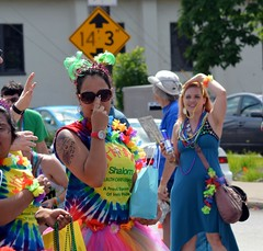 There's always intriguing people in the INDY PRIDE parade.